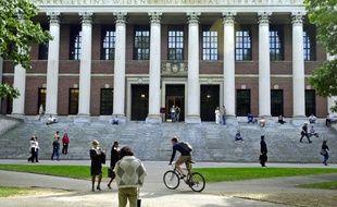La bibliothèque de l'université Harvard aux Etats-Unis