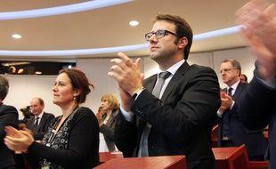 Loïg Chesnais-Girard le 18 décembre lors de l'élection de Jean-Yves Le Drian à la tête de la région Bretagne.