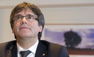Carles Puigdemont lors d'une réunion à Bruxelles, le 5 février 2018.