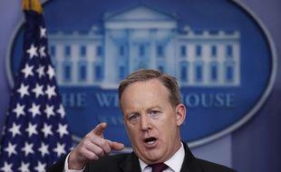 Le porte-parole de la Maison Blanche, Sean Spicer.