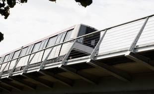 Ligne A du Métro, avec sa partie aérienne au niveau de Balma. 6/10/11 Toulouse