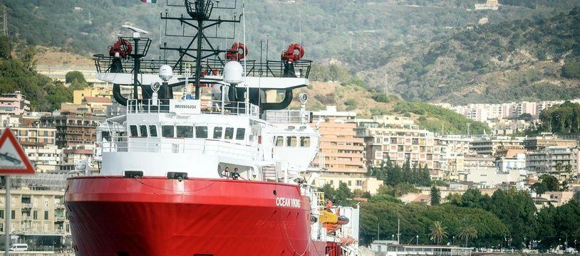 L'Ocean Viking dans le port de Messine, en Italie, en septembre 2019. (archives)