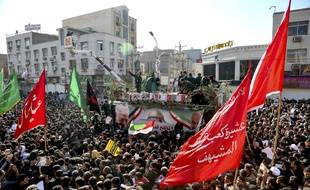 Lors des obsèques du général Qassem Soleimani à Téhéran, cette fin de semaine.