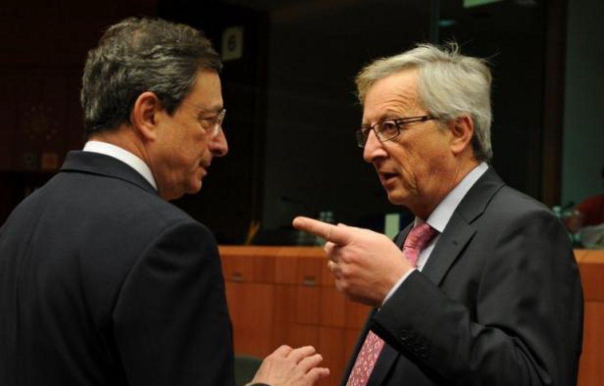 """Les chefs de quatre institutions européennes majeures préparent un """"plan d'ensemble"""" pour conduire la zone euro hors de la crise, selon le journal allemand """"Welt am Sonntag"""". – John Thys afp.com"""