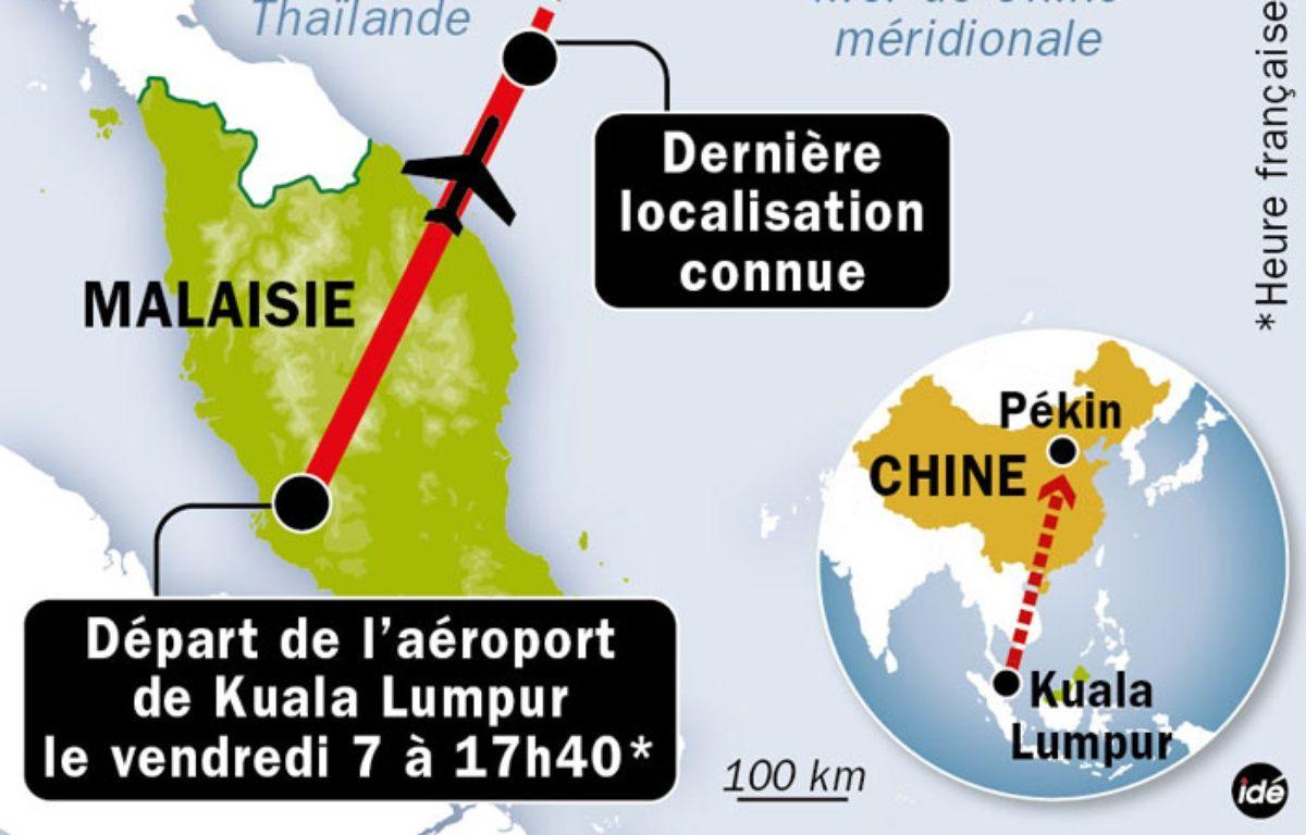 Infographie décryptant l'accident d'avion au large du Vietnam.  – IDE
