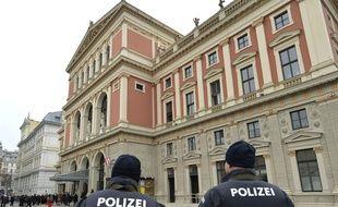 Une patrouille de police à Vienne le 1er janvier 2016 (Illustration).