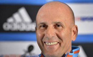 """Elie Baup, nommé mercredi entraîneur de Marseille (Ligue 1), a déclaré qu'il se sentait """"plus costaud"""" grâce à son travail de consultant à la télévision et s'est dit """"impatient"""" de démarrer, lors d'une conférence de presse jeudi à Crans-Montana, où l'OM est en stage."""