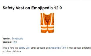 Un dossier pour réclamer la création d'un emoji «gilet de sécurité» a été déposé en juillet dernier auprès du Consortium Unicode.