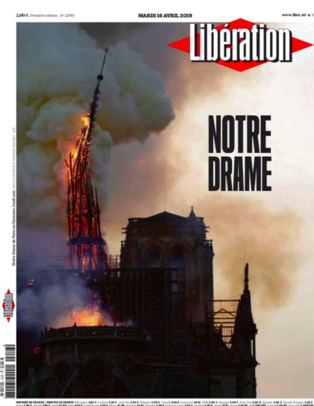 la Une du 16/04/19 de Libération
