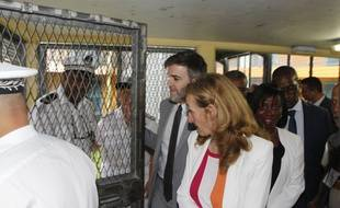 Nicole Belloubet, garde des Sceaux, visite la prison de Baie-Mahault (Guadeloupe), en mai 2019.