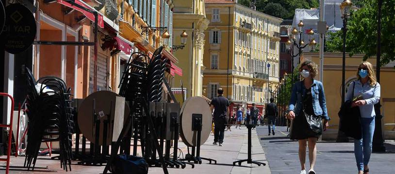 Les terrasses du cours Saleya à Nice, le 17 mai 2021 (Illustration)