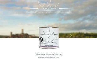 Capture d'écran du site vendant des boîtes «Air de Montcuq», le 13 novembre 2013.