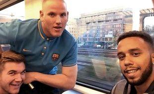 Une photo prise par Alek Skarlatos, Spencer Stone et Anthony Sadler avant l'attaque à bord du Thalys.