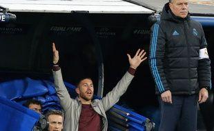 Sergio Ramos, suspendu lors du Real-Juve, traînait aux abords du terrain.. .