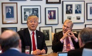 Donald Trump le 22 novembre 2016 dans les locaux du «New York Times».