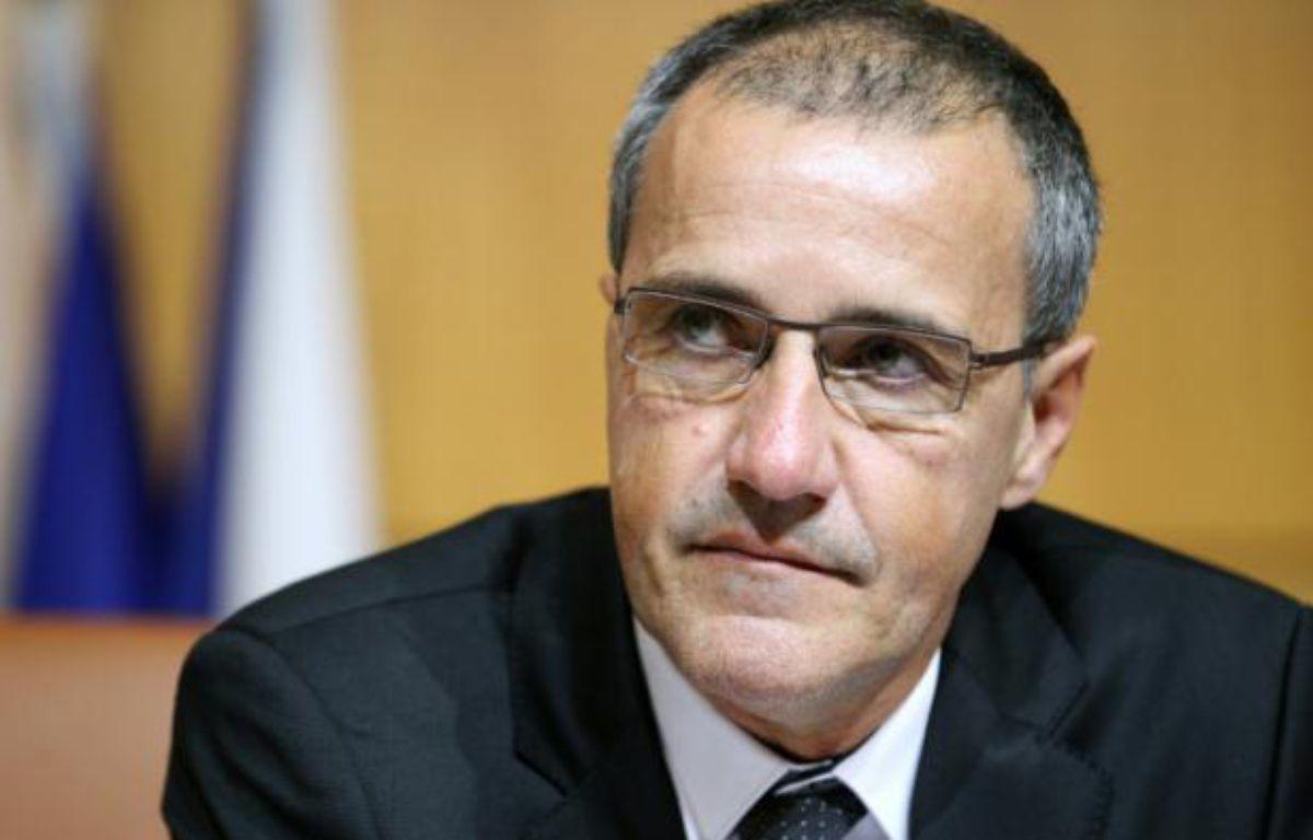 Jean-Guy Talamoni après avoir été élu président de l'Assemblée corse, le 17 décembre 2015 à Ajaccio – PASCAL POCHARD-CASABIANCA AFP
