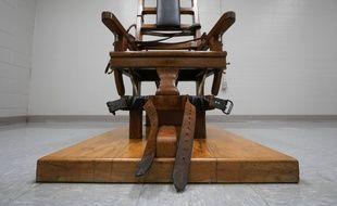 Une chaise électrique dans une prison de l'Etat de Virginie aux Etats-Unis, le 24 mars 2021.