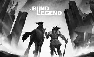 Un artwork pour le jeu audio A Blind Legend.