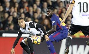 Samuel Umtiti s'était déjà blessé deux mois, fin 2017, lors d'un match contre Valence.