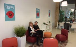 Véronique Latour, directrice de Poppy et Naïma Charai, qui coordonne le dispositif.