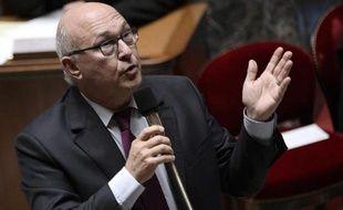 Le ministre des Finances français Michel Sapin à l'Assemblée nationale, le 8 octobre 2014, à Paris