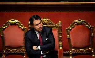 Le premier ministre Giuseppe Conte italien au sénat