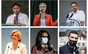 Les six principales candidates et candidats aux élections régionales en Ile-de-France.