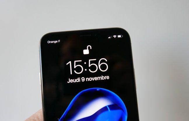 Un petit verrou témoigne du fait que Face ID reconnait ou non le propriétaire du smartphone.