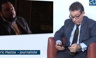 Le journaliste Frédéric Haziza lors de son passage dans le studio de 20 Minutes
