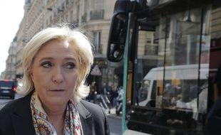 Marine Le Pen à Paris, le 24 avril 2017.