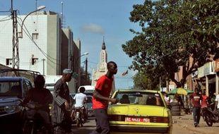 Une rue du centre de Bamako