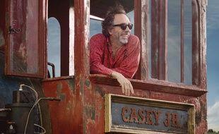 Tim Burton sur le tournage de Dumbo