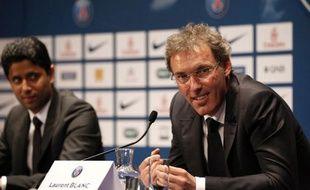 Laurent Blanc lors de sa présentation comme entraîneur du PSG, le 27 juin 2013 au Parc des Princes.