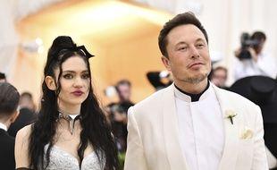 Grimes et Elon Musk, en mai 2018.
