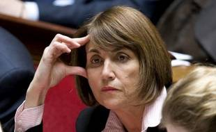 La ministre de la Culture Christine Albanel sur les bancs de l'Assemblée nationale