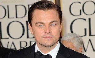 Leonardo DiCaprio aux Golden Globes, le 13 janvier 2013.