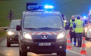 Un véhicule de gendarmerie, ici près de Rennes.