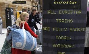 Quand ils le pouvaient, les voyageurs tentent d'emprunter d'autres moyens de transport, notamment le train.