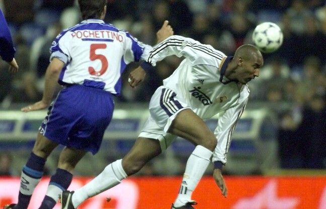 La Pochette au duel avec Anelka lors d'un Espanyol-Real en avril 2000.