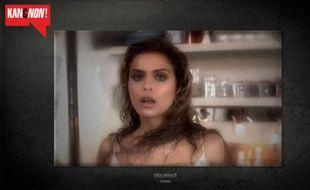 Capture d'écran de la vidéo d'une campagne du Collectif féministe contre le viol, mettant en scène l'ancienne actrice X Clara Morgane.