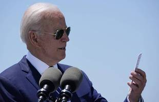 Le président Joe Biden le jeudi 6 mai 2021 à Lake Charles, en Louisiane.