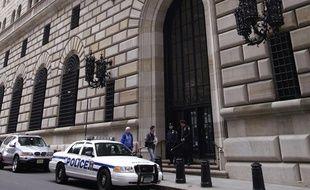 Le siège de la réserve fédérale américaine à New York, aux Etats-Unis.