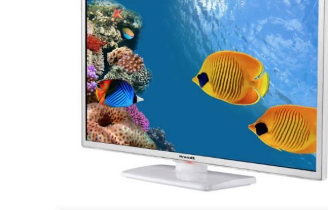 Pour moins de 170 euros, un petit téléviseur d'appoint Brandt avec lecteur DVD intégré.