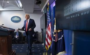 Donald Trump, le 10 août 2020 lors d'une conférence de presse.