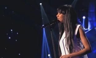 Awa Sy lors de «The Voice» sur TF1.