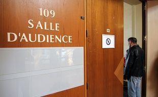 Une salle d'audience du tribunal de grande instance de Rennes, à la cité judiciaire.