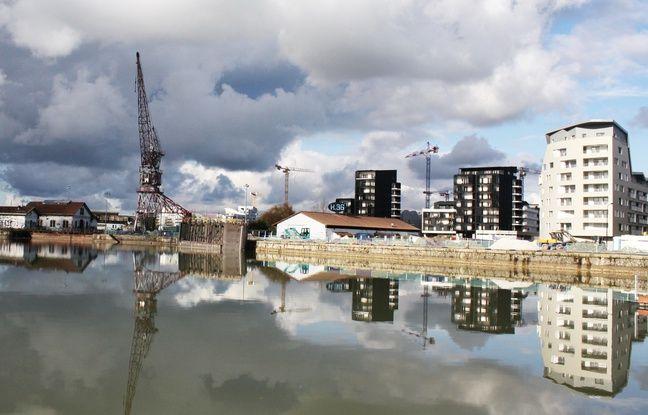 Le 18 janvier 2015, quartier des Bassins à Flot à Bordeaux