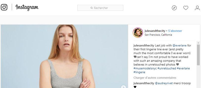 Julia exerce le métier de mannequin au Canada et aux Etats-Unis.