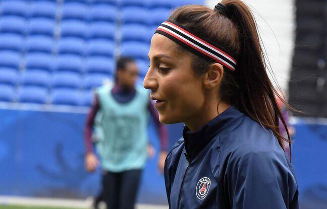 Nadia Nadim, à l'échauffement le mois dernier au Parc OL avant le quart de finale de Ligue des champions brillamment remporté par les Parisiennes (1-2). Mourad Allili