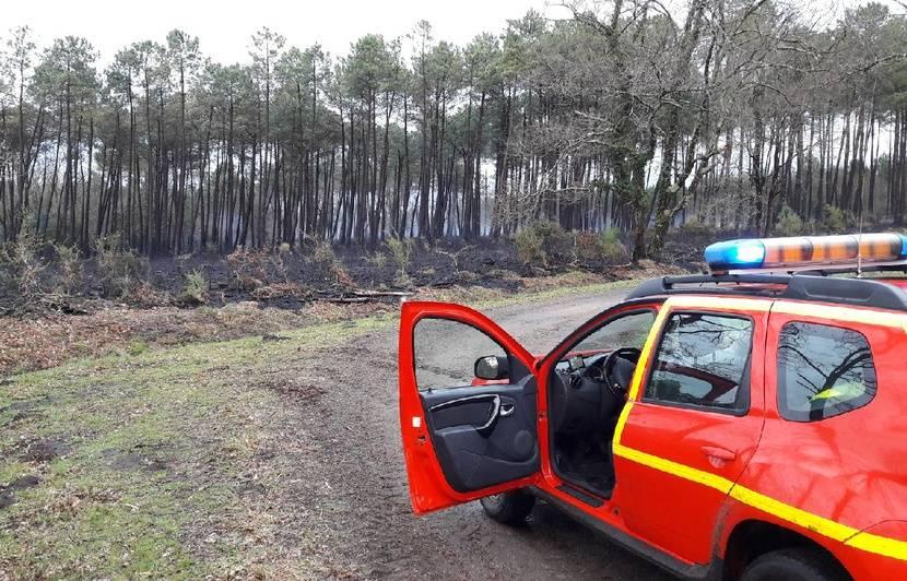 Landes:Plusieurs hectares ravagés par le feu, le trafic SNCF interrompu entre Bordeaux et Bayonne